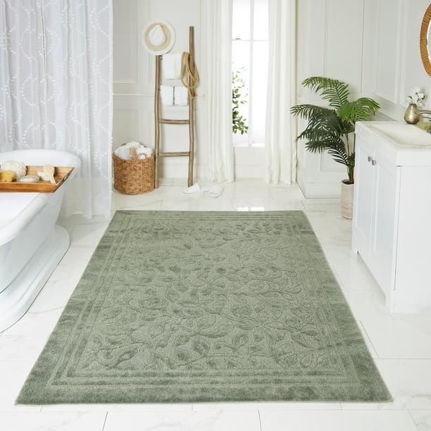 Mohawk Home Wellington Sage Green Bath, Green Bathroom Rug