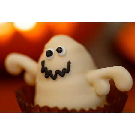 LAMINATED POSTER Ghost Dessert Orange Food Halloween Sweet Holiday Poster Print 24 x 36 - Halloween Finger Foods Desserts