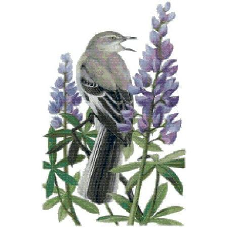 texas state bird and flower northern mockingbird and bluebonnet