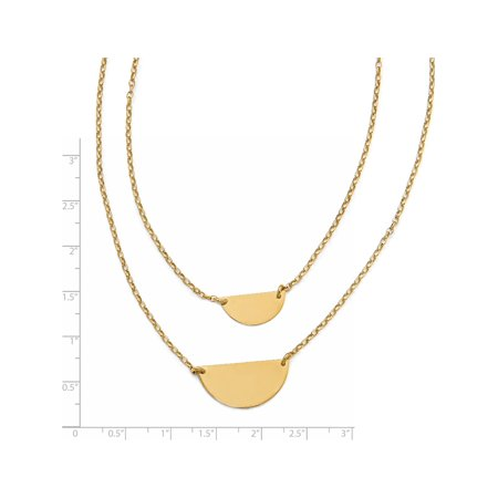 Leslie's Sterling Silver Gold-tone w/1in ext. Necklace - image 2 of 4