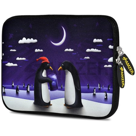 Designer Universal 10.5 Inch Neoprene Sleeve Pouch for Apple iPad 9.7 iPad Air 1 2 iPad Pro 9.7  - Penguin Life (Fit with Smart Folio Skin TPU (Best Ipad Pro 10.5 Sleeve)