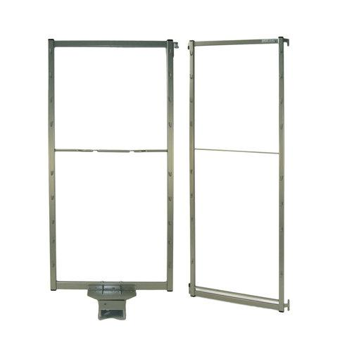 """Hafele 546.64.13 21"""" Wide Chefs Pantry Tandem Pull Out and Door Mount Frames wit"""