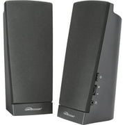 Compucessory, CCS51544, Pre-amplified Flat Panel Speakers, 2, Black