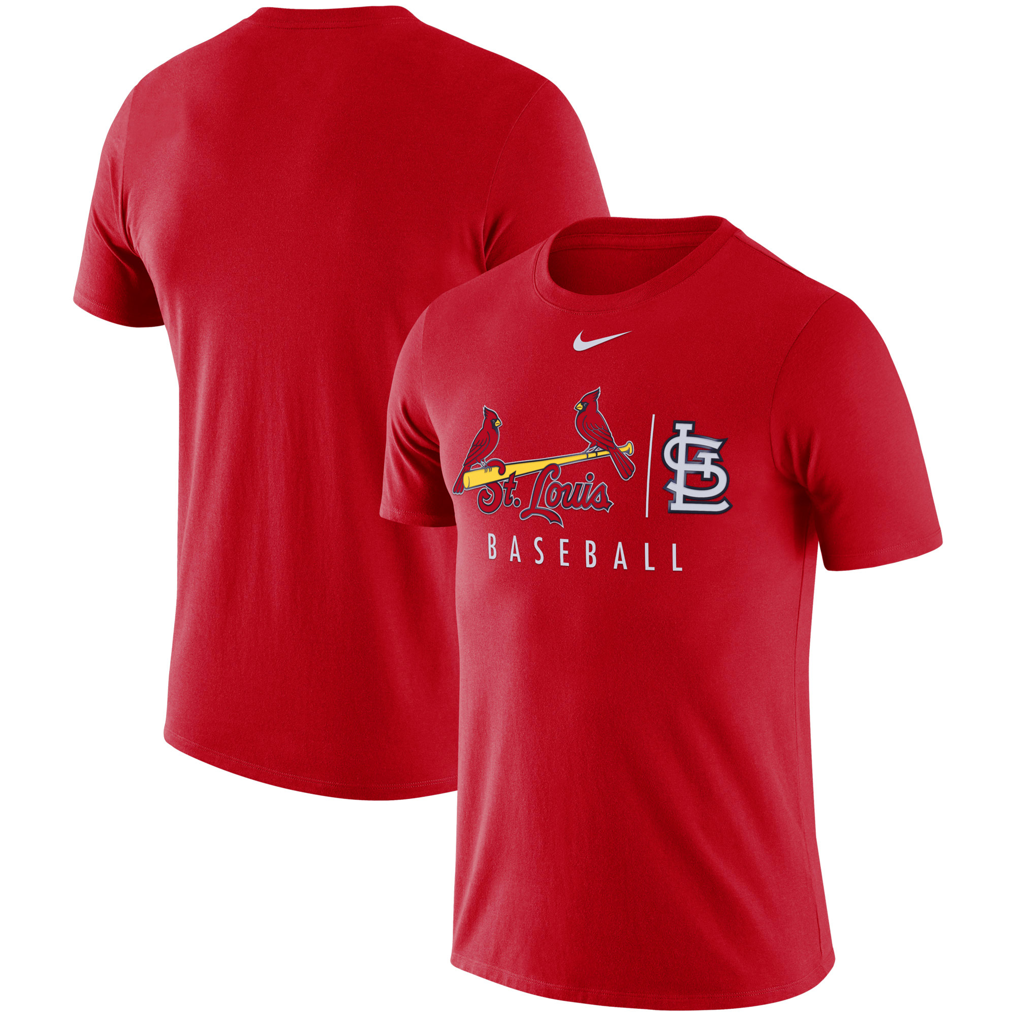 St. Louis Cardinals Nike MLB Team Logo Practice T-Shirt - Red