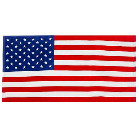 Deluxe Old Glory American Flag Beach Towel