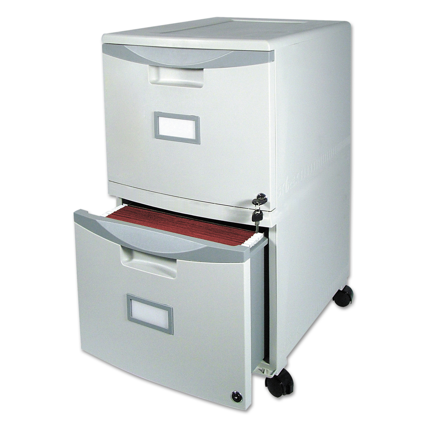 Storex Two-Drawer Mobile Filing Cabinet, 14-3/4w x 18-1/4d x 26h ...