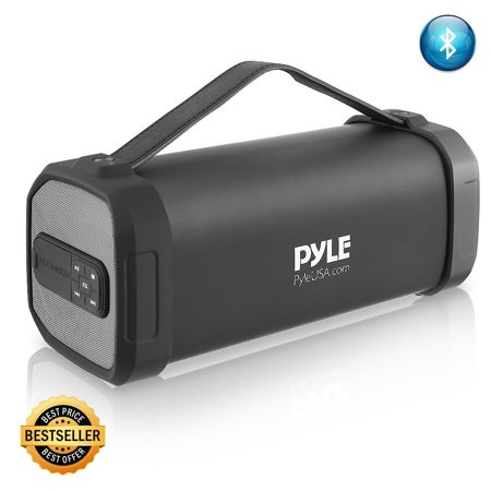 Pyle Wireless Portable Bluetooth Speaker - 150 Watt Power Rugged Compact Audio Sound Box Stereo System with Rechargeable Battery, 3.5mm AUX Input Jack, FM Radio, MP3, Micro SD and USB Reader - PBMSQG9](micro stereo systems ratings)