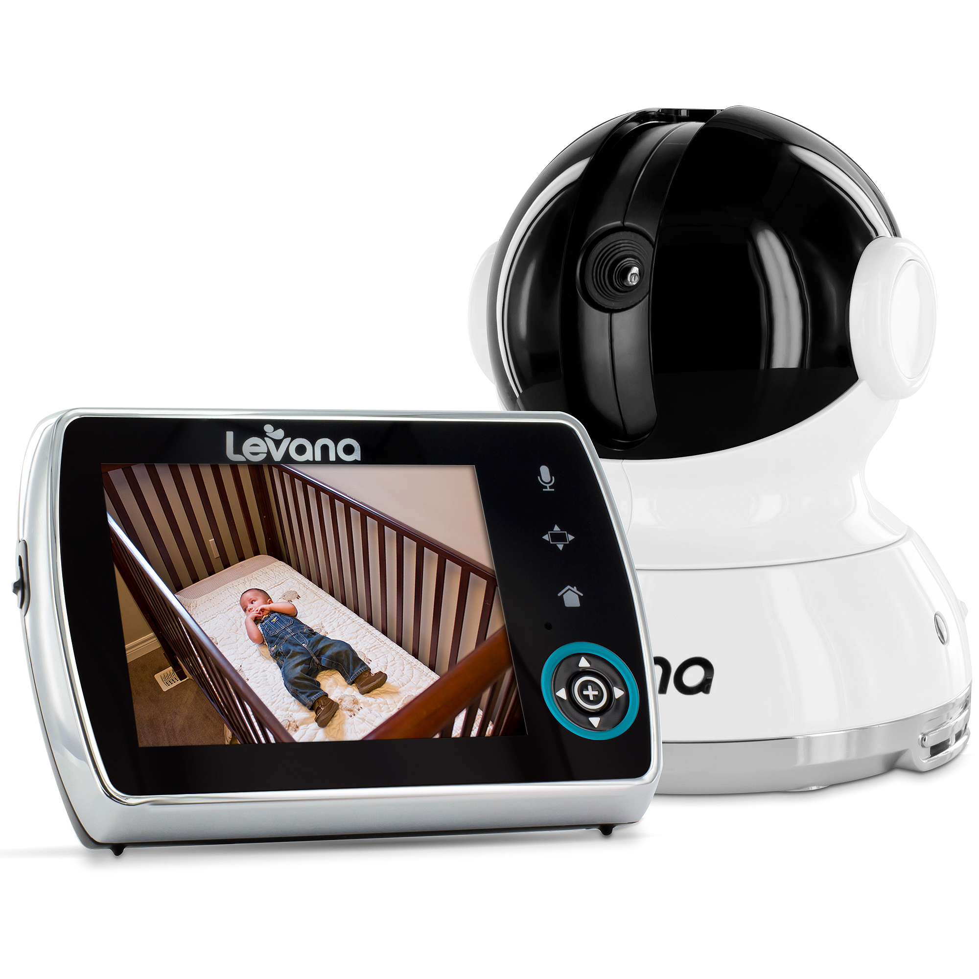 "Levana Keera 3.5"" LCD Digital Baby Video Monitor with 24-Hour Battery, Touch Panel, Talk to Baby Intercom and SD Video Recording, 32012"