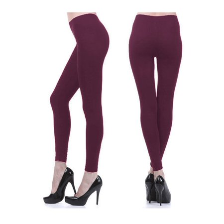 Women Fleece Lined Pants Leggings Thick Tight Warm Thermal Winter Footless Long