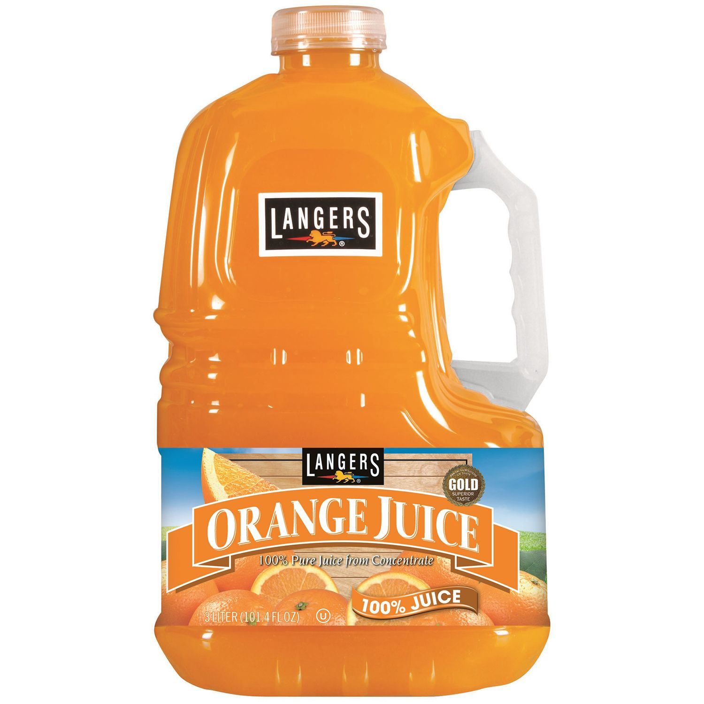Langers Orange Juice (3 L, 2 ct.)