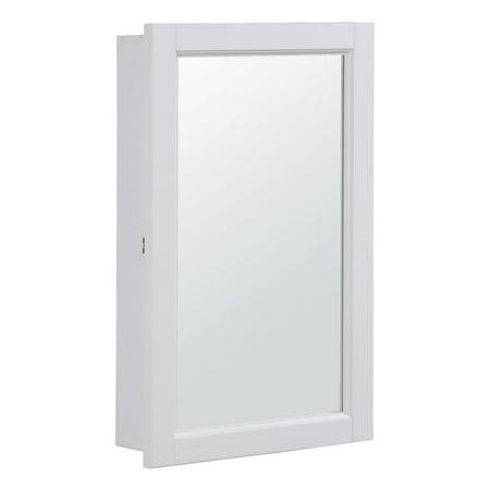 "Design House 590505 Concord 1-Door Medicine Cabinet Mirror 16"", White"