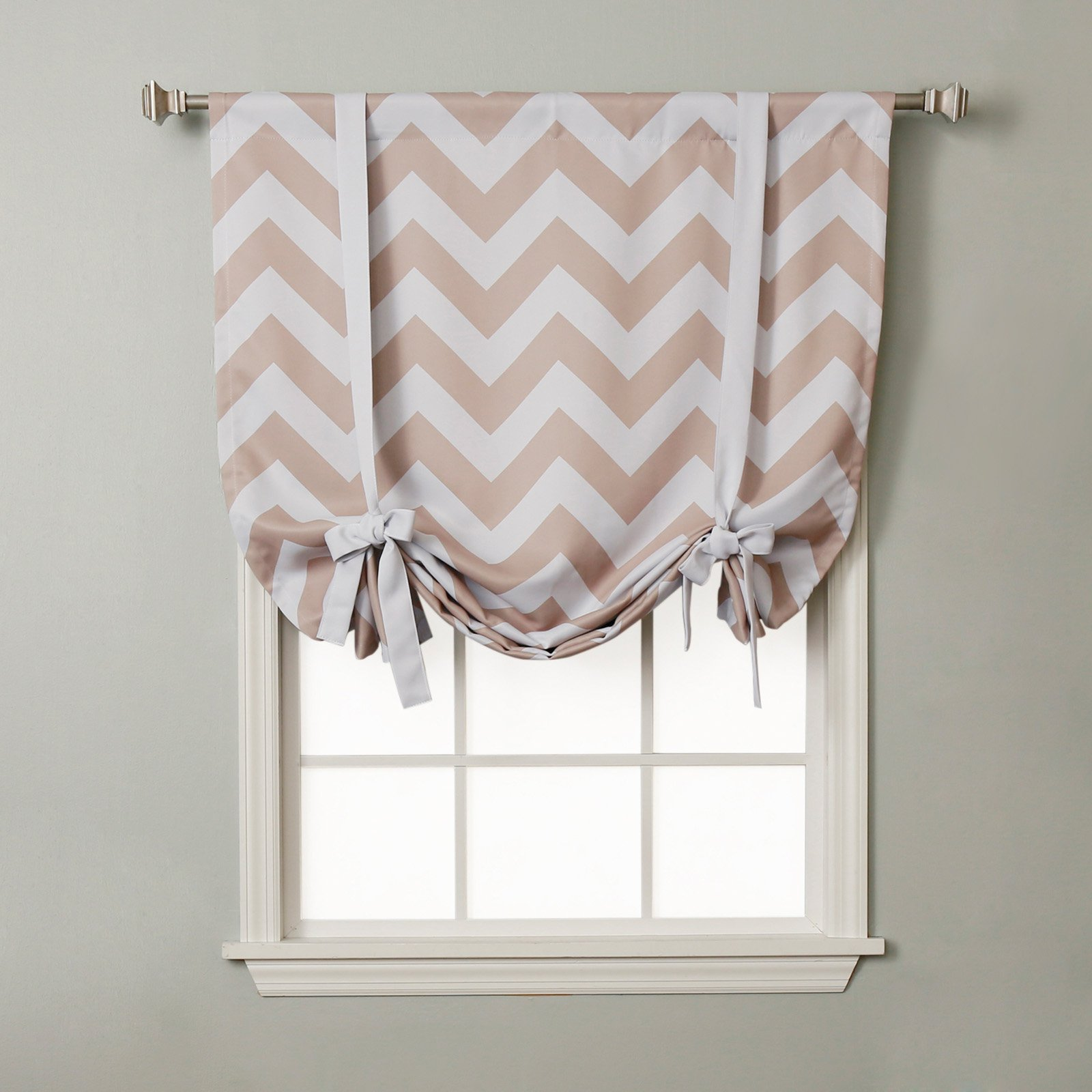 Best Home Fashion, Inc. Chevron Print Tie-Up Shade