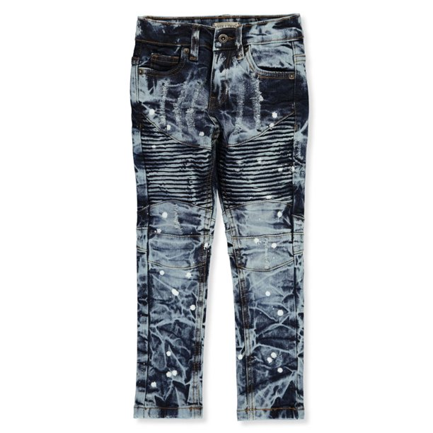 Evolution In Design Boys' Paint Splash Ribbed Skinny Jeans (Little Boys)