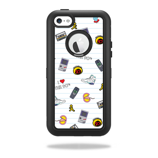 MightySkins Protective Vinyl Skin Decal for OtterBox Defender iPhone 5C wrap cover sticker skins Love The 90s