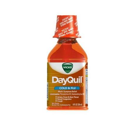 Vicks Dayquil Rhume et grippe secours liquide 8 oz (Pack de 3)