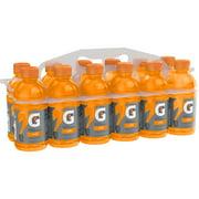 Gatorade Fierce Thirst Quencher Sports Drink, Orange, 12 oz Bottles, 12 Count
