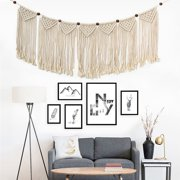Handmade Braided Bohemian Macrame Woven Wall Hanging Cotton Rope Tapestry Home Art Decor Wedding Backdrop Craft Ornament Gifts Shabby Chic Style