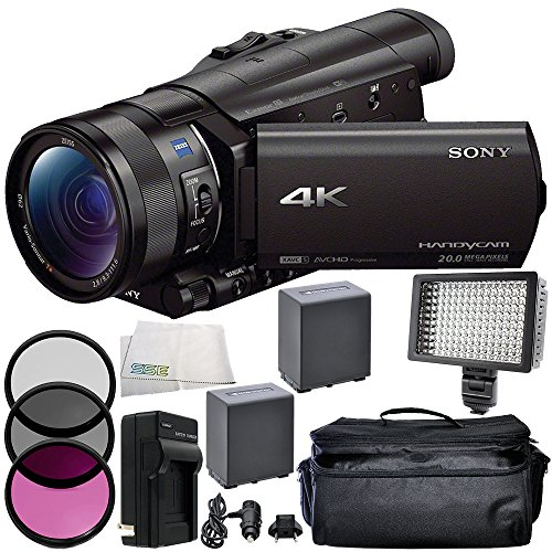 Sony FDR-AX100 4K Ultra HD Camcorder 9PC Accessory Bundle...