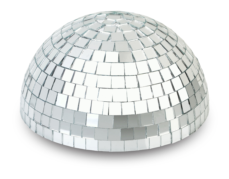 "8"" Silver Half Dome Centerpiece Disco Mirror Ball for Dance Party by Asian Import Store, Inc."