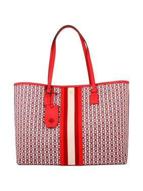 Tory Burch Gemini Ladies Large Liberty Red Canvas Tote Bag 53303-939