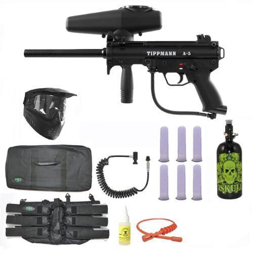 Tippmann A-5 w  Selector Switch Paintball Marker Gun 3Skull Nitro Sniper Set by