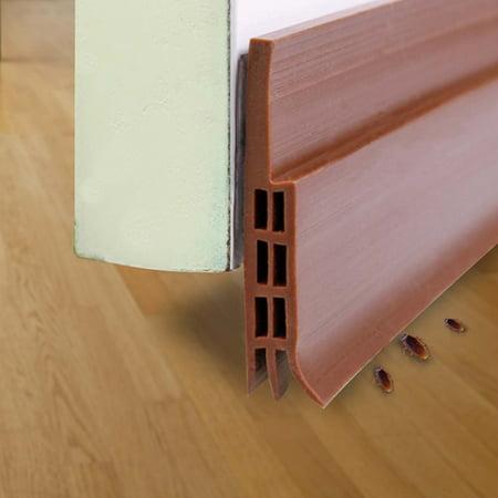 Self-adhesive Weather Stripping Frameless door Gap draft stopper Door Bottom Seal Strip, 2