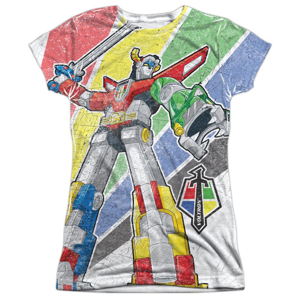 Voltron Mighty Robot Juniors Sublimation Shirt