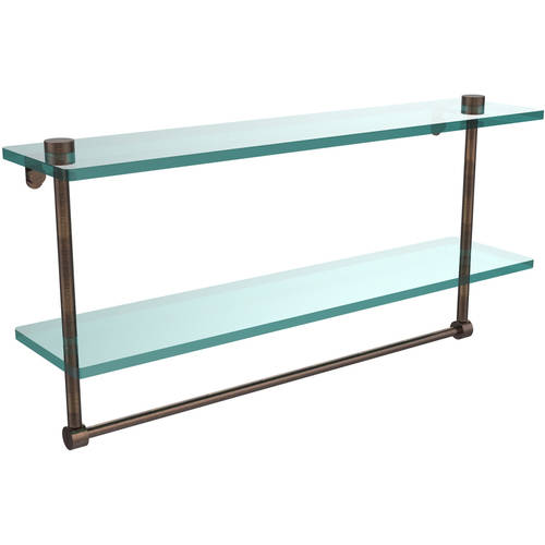 22 Quot 2 Tiered Glass Shelf With Integrated Towel Bar Build