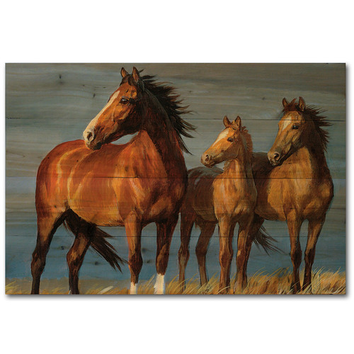 WGI-GALLERY On Alert by Persis Clayton Weirs Painting Print Plaque by WGI-GALLERY