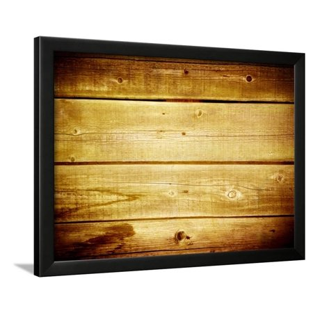 Old Brown Wooden Planks Background Framed Print Wall Art By Caesart