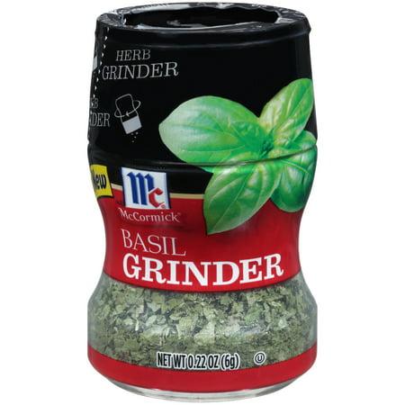 (2 Pack) McCormick Basil Herb Grinder, 0.22 oz