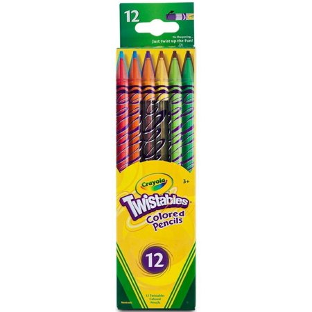 Crayola Twistables Colored Pencils, Assorted Colors 12 Count (Pack Of 2)
