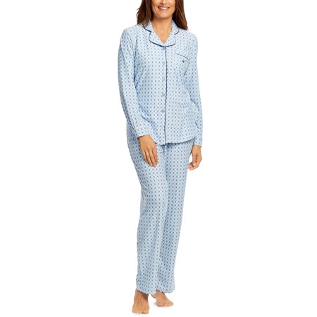 Gloria Vanderbilt Women's and Women's Plus Midnight Garden Knit 2-Piece Coat Sleep Set (Pj Jacket)