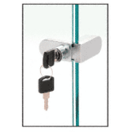 Image of CRL 255CHKA Chrome Keyed Alike No-Drill Showcase Lock