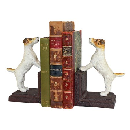 Design Toscano Jack Russell Terrier Dog Cast Iron Sculptural Dog Bookend - Scottie Dog Bookends