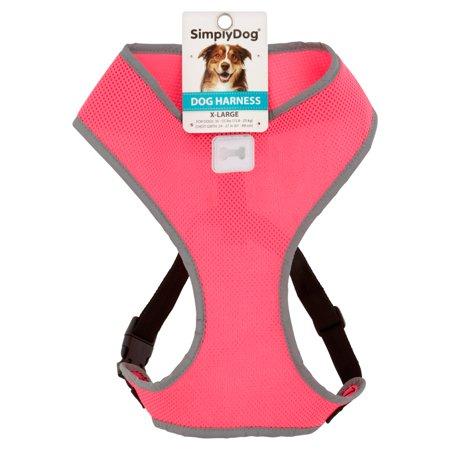 Simplydog Pink Reflective Tstrap Hrns Xl