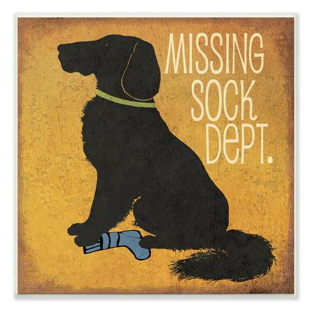 Missing Sock Dept. Textual Art Wall Plaque