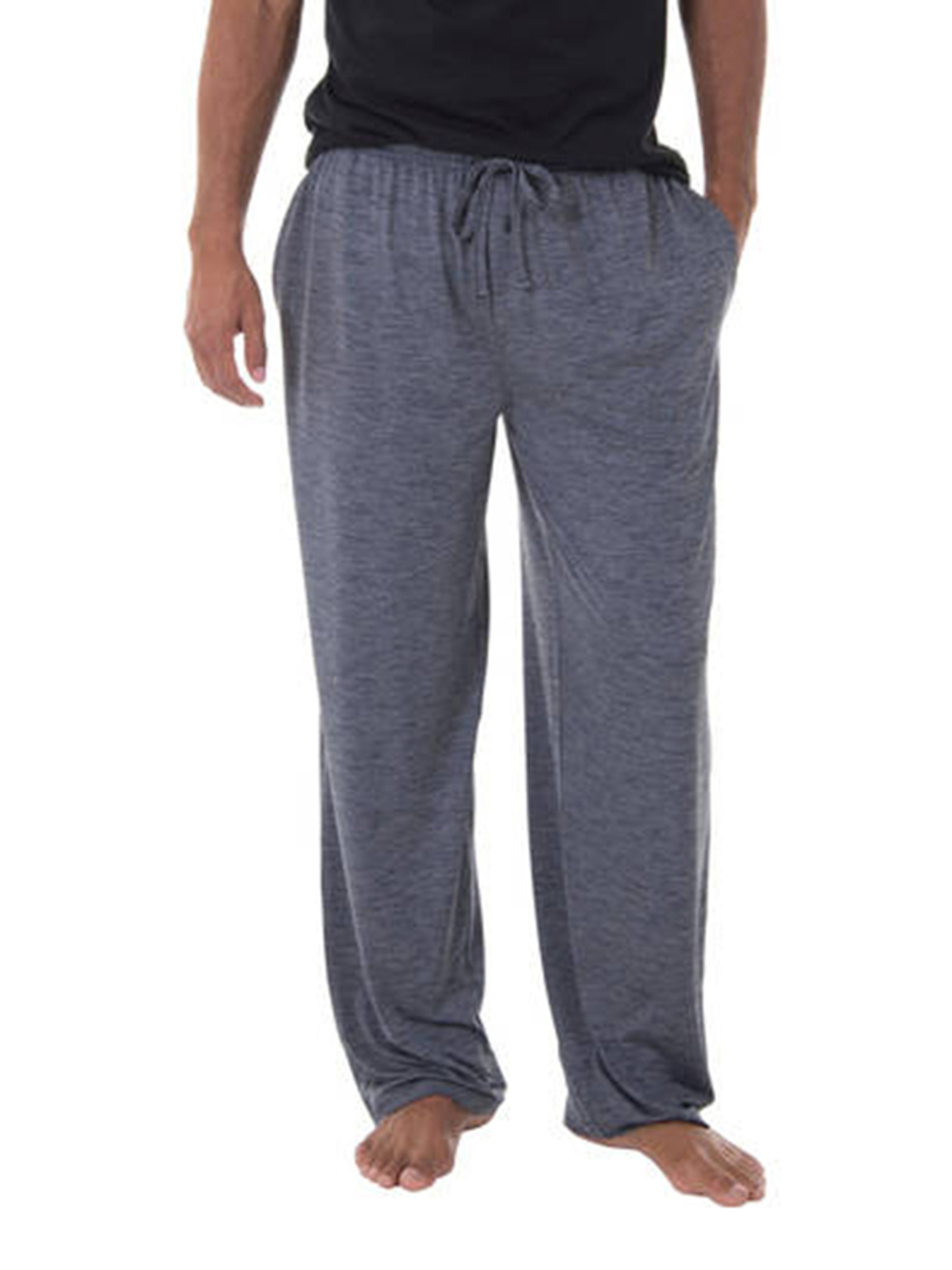 NEW Mens Fruit of the Loom Gray Knit Sleep Lounge Pajama Jogger Pants Size Large