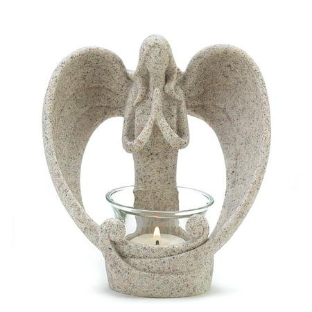 Modern Tealight Holder, Desert Angel Glass Colored Table Small Candle Holder](Small Glass Candle Holders)