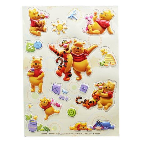 Disney's Winnie the Pooh Fun and Carefree 3D Raised Stickers (15 Stickers)