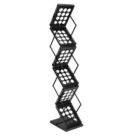 Overlapping Magazine Display - Gymax Folding Pop-up Brochure Rack Magazine Display Holder
