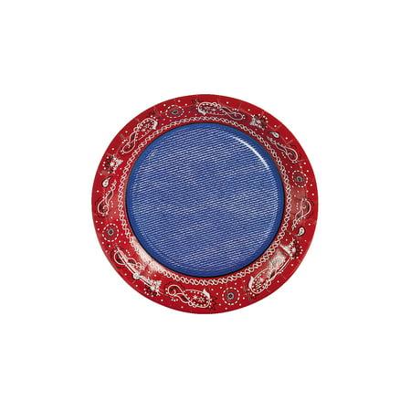 Bandana Plates (IN-70/8325 Red Bandana Dessert Plates 8 Piece(s))