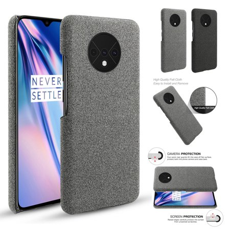 TORUBIA Case for OnePlus 7T {Fully Protective Shockproof dustproof & Screen Protection}Ultra Thin Hard PC Woven Design Anti-scratch Phone Protector Black - image 6 of 7