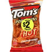 Tom's Porkskins Hot Flavored Chicharrones, 3 Oz.