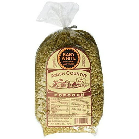 Amish Country Popcorn - Baby White, 2 Lb bag