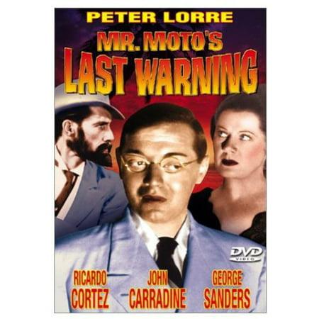 Mr Moto's Last Warning (DVD)