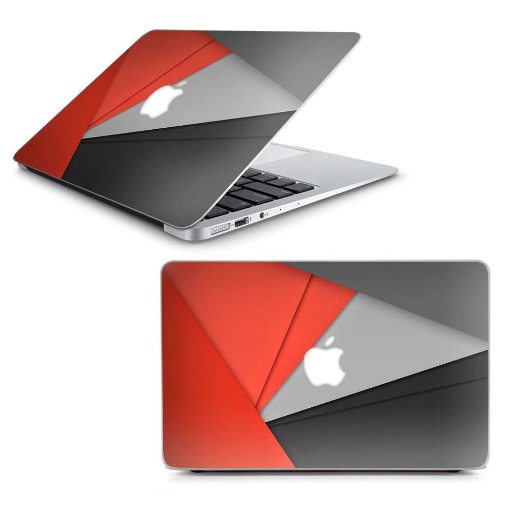 """Skins Decals for MacBook Air 13"""" A1369 A1466 / Orange and Grey"""