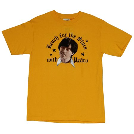 Vote For Pedro Shirt (Napoleon Dynamite Mens T-Shirt  - Reach for The Stars Vote for Pedro Head)