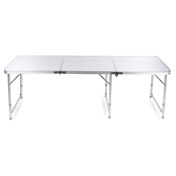 6ft folding aluminum camping table portable table for camping picnic or patio - 6 Foot Folding Table