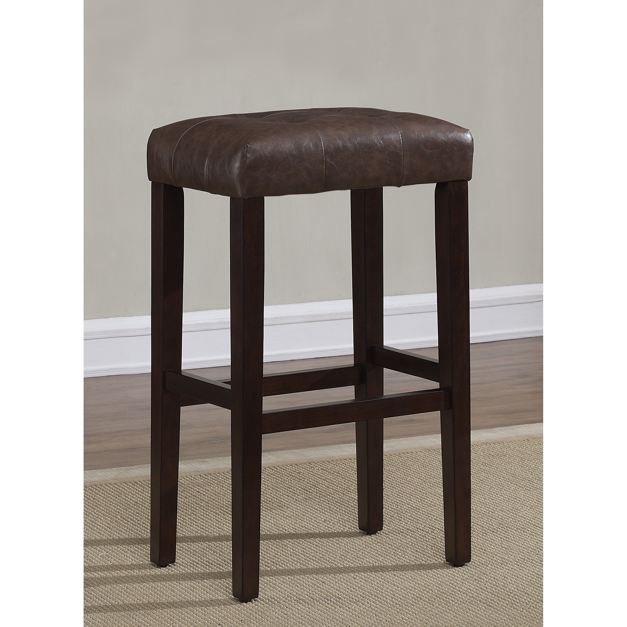 Greyson Living Terrell 26 Inch Espresso Backless Counter Stool By